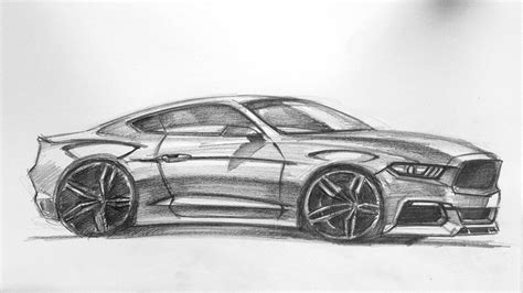 mustang drawing mustang car drawings imgkid com the image kid has it