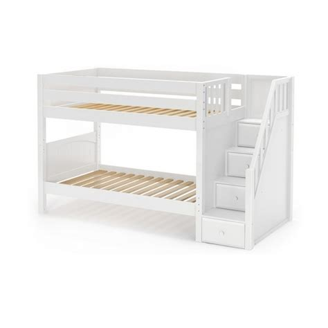 low bunk beds maxtrixkids stacker wp low bunk bed with staircase on