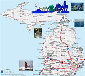 Map Of Michigan Cities And Towns by Gallery For Gt Michigan Map With Cities