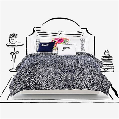 kate spade new york eyelet medallion comforter set bed