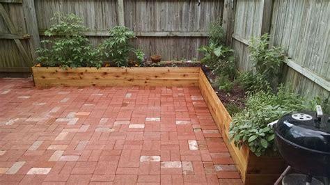planters for patio brick patio and cedar planters