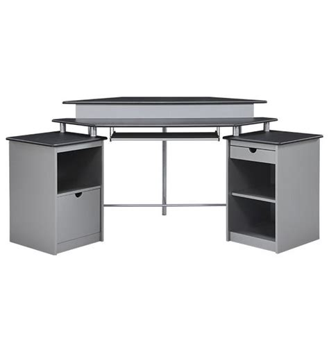 Black And Silver Computer Desk Black And Silver Computer Desk
