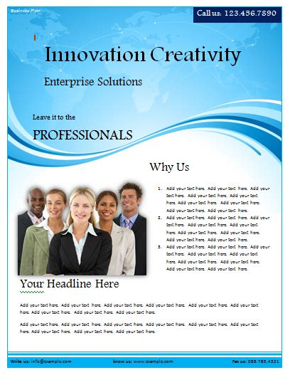 free flyer templates word business flyer template microsoft word templates