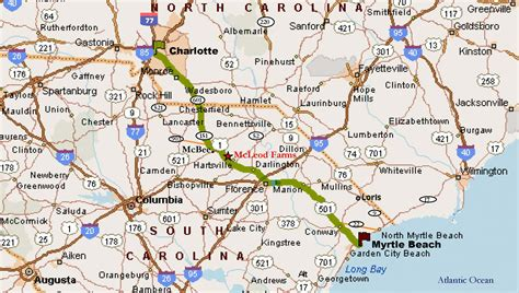 road map of south carolina and south carolina highway 151