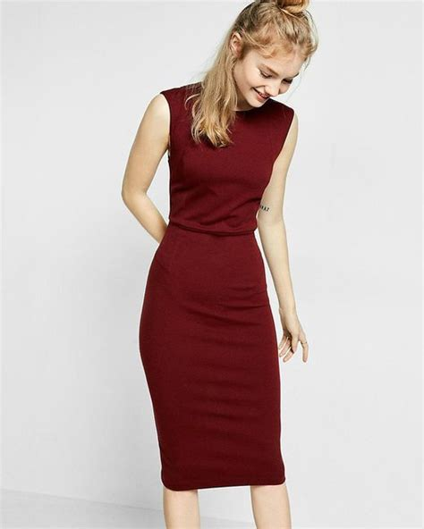 Oomph Or Zip Express Knit Zip Back Sheath Dress In Lyst