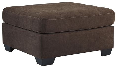 Oversized Square Ottoman Benchcraft By Maier Walnut Contemporary Square