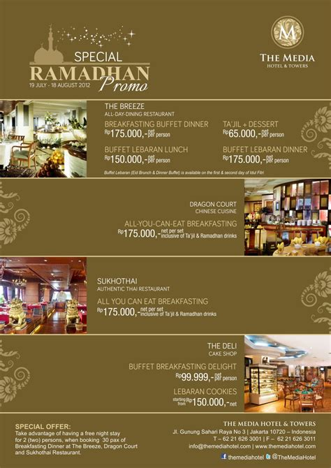 Paket Breakfasting ramadhan journey eat sleep more