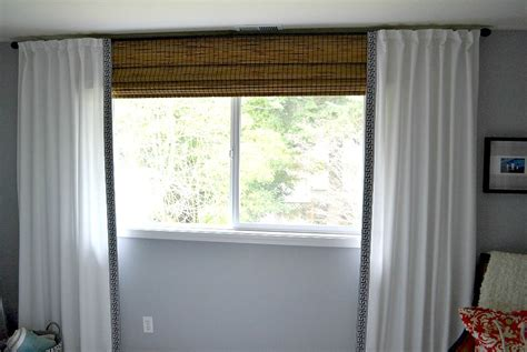 Curtains Rods For Bay Windows Bamboo Shades With Sheer Curtains Curtain Menzilperde Net