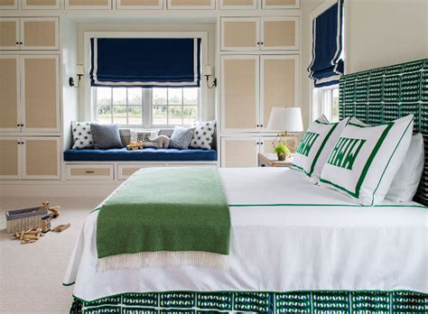 navy and green bedroom blue and white beach house design home bunch interior