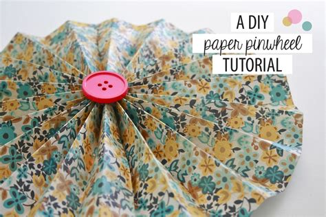 How To Make Paper Pinwheel Decorations - a diy paper pinwheel tutorial 187 green diy