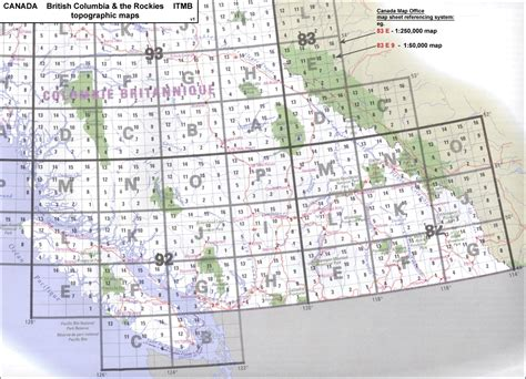 canadian map grid system canada itmb canada map office topographic maps of