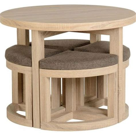 round with chairs that fit underneath best 25 space saving dining ideas on pinterest