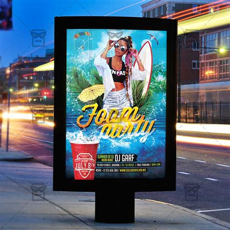 Free Foam Party Flyer Template Psd