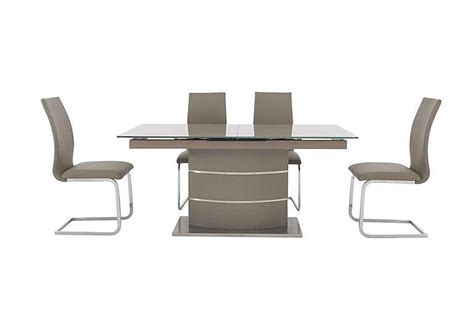 malibu dining table and chairs malibu taupe table and 4 dining chairs furniture
