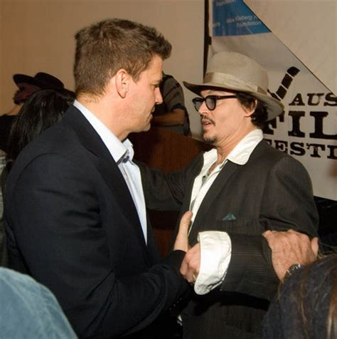 david boreanaz amp johnny depp bones photo 33933585 fanpop