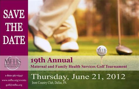 Maternal Family Health Services Announces 19th Annual Golf Tournament Golf Tournament Save The Date Template