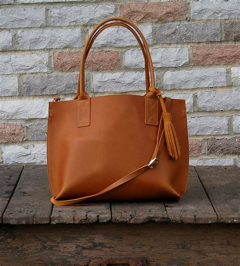 Small Handmade Bags - small everyday leather tote bag features leather goods