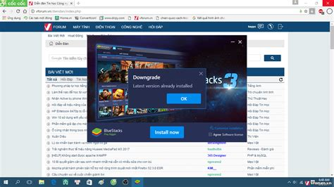 bluestacks downgrade c 224 i bluestracks 3 bị lỗi quot downgrade quot latest version