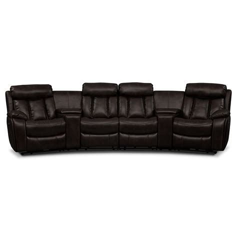 armless sectional pieces diablo 6 piece power reclining sectional with 2 armless
