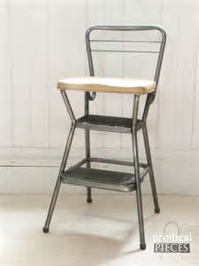 1950 s vintage cosco step stool with folding seat retro