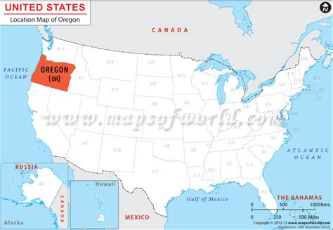 portland oregon on the usa map where is oregon located oregon location