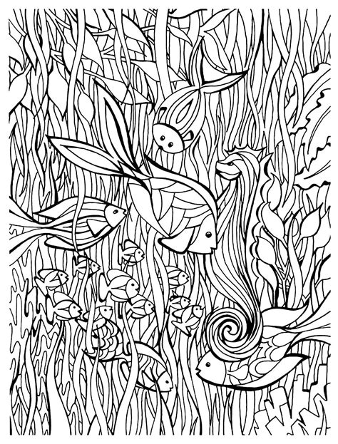 coloring pages fish for adults fish details animals coloring pages for adults justcolor