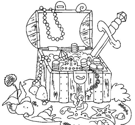 coloring pages treasure island pirate treasure chest coloring pages pinterest
