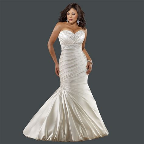 mermaid wedding dresses plus size aliexpress buy style sweetheart embroidery