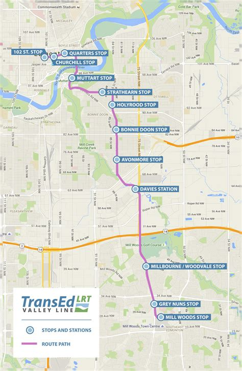 map of with stops valleyline map stops 2 transed valley line lrt