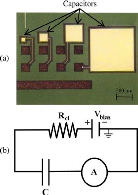 capacitor array uses a optical micrograph of typical capacitor array used in radiation