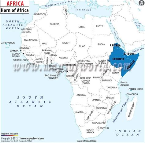 where is horn on the map horn of africa map http www mapsofworld africa