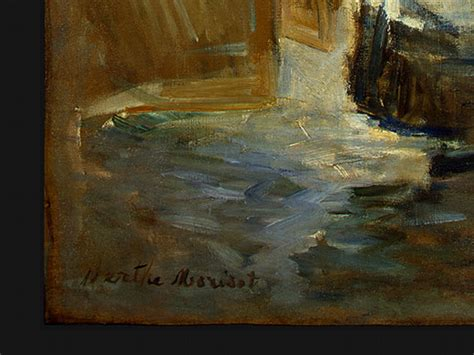 berthe morisot in the dining room cooking storms head for art