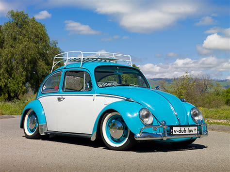 blue volkswagen beetle 1970 subcompact car stock photos kimballstock