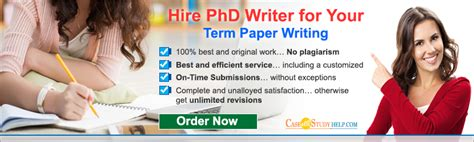 Professional Term Paper Writing For Phd by Term Paper Writing Service By Professional Master S And Phd