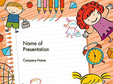 free doodle ppt template and toys drawing style background powerpoint template