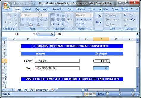 binary format converter all categories snetid