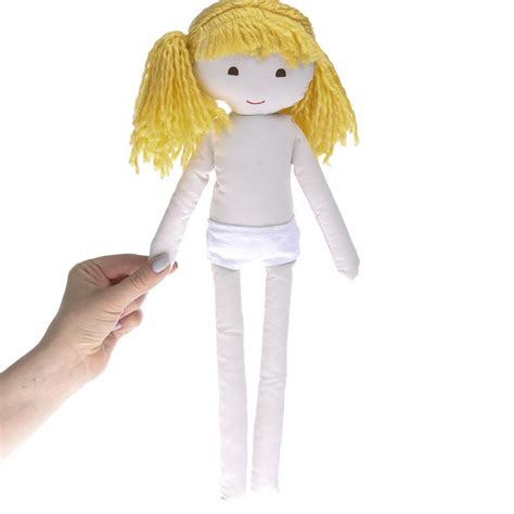 rag doll with hair muslin rag doll with yarn hair muslin dolls and