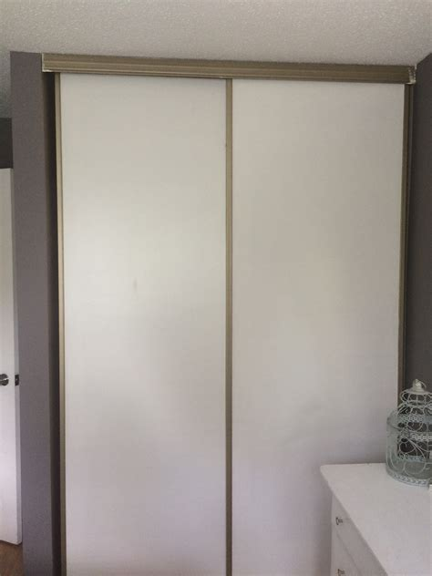 Diy Sliding Closet Door Update The Secret Life Of M Sliding Closet Doors Diy