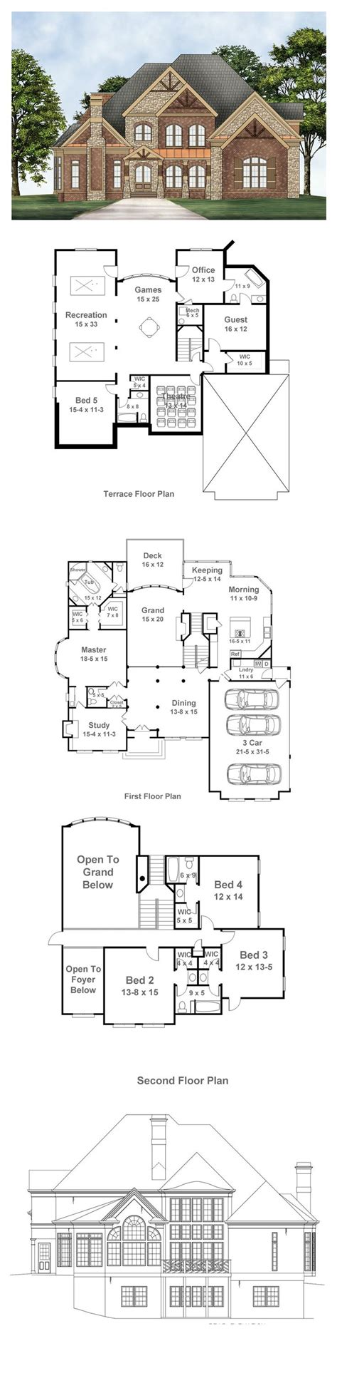 Revival House Plans by Revival House Plan 72096 Total Living Area 3143