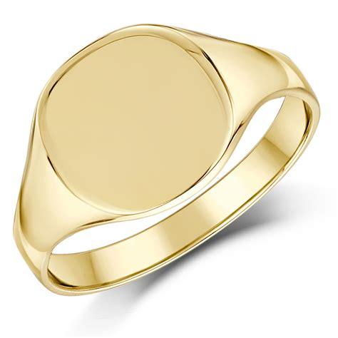 9ct yellow gold cushion shape signet ring ladie s