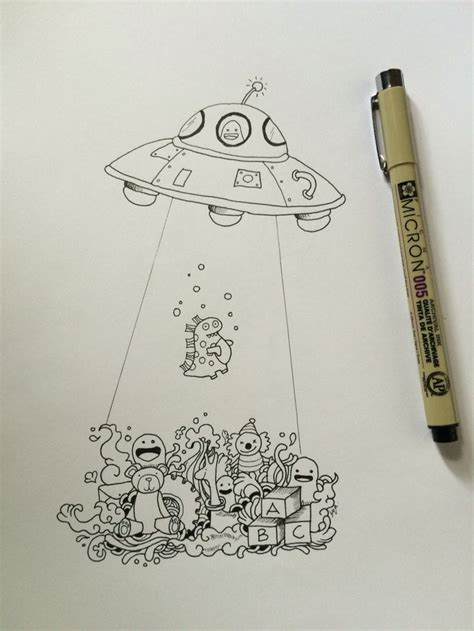 doodle ufo 1000 images about doodle on drawings