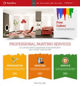 12 painting company wordpress templates amp themes free