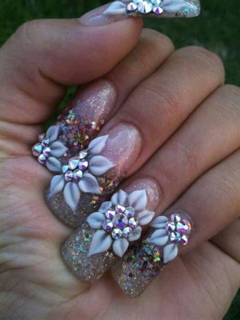 imagenes de uñas acrilicas con muchas piedras 89 dise 241 os de u 241 as decoradas con piedras muy elegantes