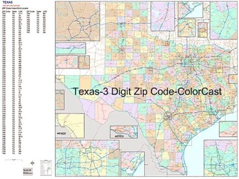 texas zip code maps texas 3 digit zip code map images