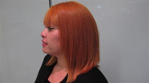 brown to apricot a haircolor