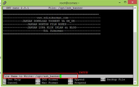 membuat ssh di vps centos membuat banner ssh di centos fedora dan ubuntu