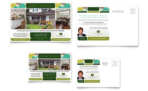 free open house post card templates real estate postcard template word publisher