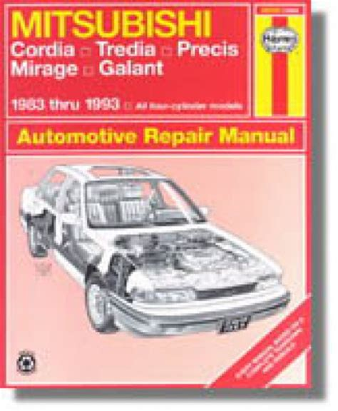 automotive service manuals 1993 mitsubishi precis auto manual haynes mitsubishi cordia tredia galant precis mirage 1983 1993 auto repair manual
