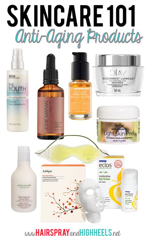 the best skincare products best anti aging products hairspray and highheels