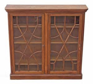 Bookshelves Antique Oak Glazed Bookcase Display Cabinet Antiques Atlas
